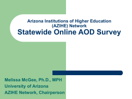 Arizona Institutions of Higher Education (AZIHE) Network