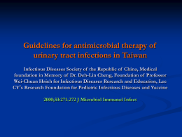 Guidelines for antimicrobial therapy of urinary tract