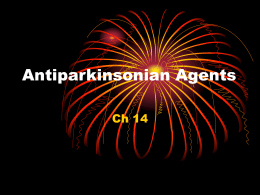 Antiparkinsonian Agents