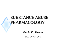 SUBSTANCE ABUSE PHARMACOLOGY