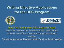 DRUG FREE COMMUNITIES SUPPORT PROGRAM
