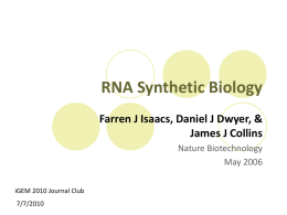 RNA Synthetic Biology