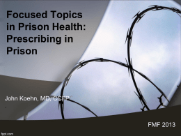 Prescribing in Prison - Home | The College of Family