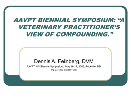 "COMPOUNDING Rx SYMPOSIUM: ""COMPOUNDING IN CLINICAL"