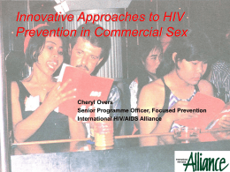Commercial Sex and HIV/STI Prevention