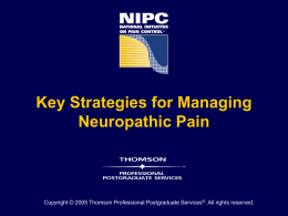 Clinical Advances in Managing Neuropathic Pain Disorders