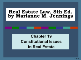 Real Estate Law, 8th Ed.