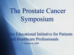 The Prostate Cancer Symposium