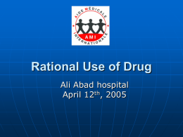 RATIONAL USE OF DRUGS