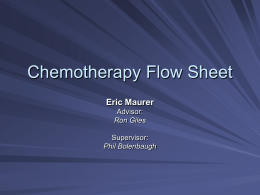 Chemotherapy Flow Sheet - University of Evansville