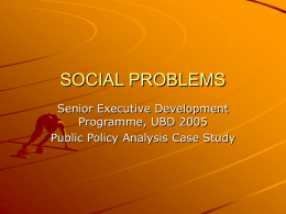 SOCIAL PROBLEMS - BRUNEI RESOURCES