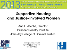 Supportive Housing and Justice