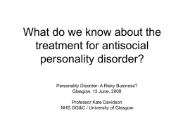 What do we know about the treatment for antisocial