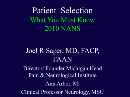 2010 NANS - North American Neuromodulation Society