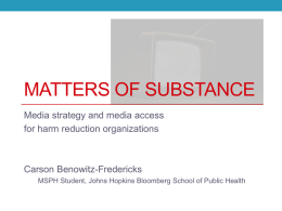 Matters of Substance - Harm Reduction Coalition