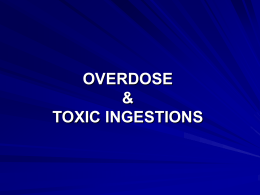 Toxic Ingestion - Creighton University