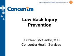 Low Back Injury Prevention