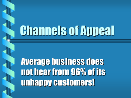 Channels of Appeal