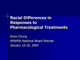 Racial Differences in the Response to Medications