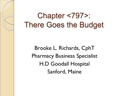Chapter : There Goes the Budget