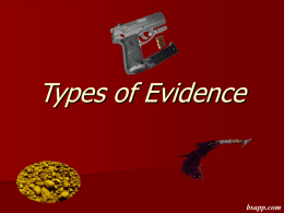 Types of Evidence - Sapp's Instructional Websites