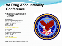 VISN 15 NATIONAL ACQUISITION CENTER BRIEFING