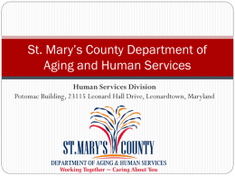 St. Mary's County Department of Aging and Human Services