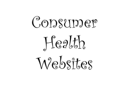 Consumer Health Websites - Claremont Senior Computer Club