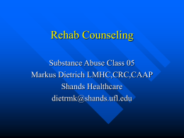 Rehab Counseling 05 - University of Florida