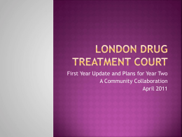 London Drug Treatment Court - Addiction Services Thames Valley
