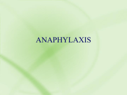 Causes of anaphylaxis