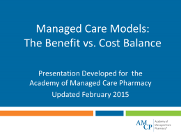 Managed Care Models