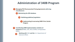 Administration of 340B Program