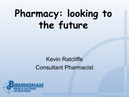 Pharmacy: looking to the future