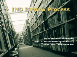 IND Review Process