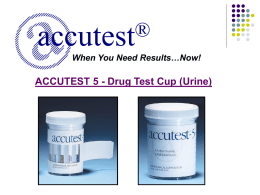 Accutest 5 - Drug Test Cup Training