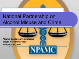 Alcohol Partnership on Alcohol Misuse and Crime