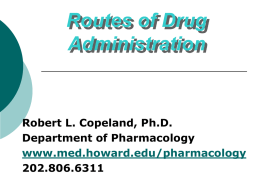 Routes of Drug Administration