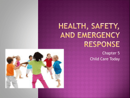 Health, Safety, and Emergency Response