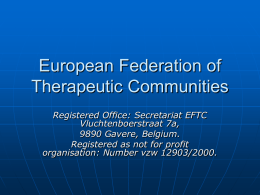 European Federation of Therapeutic Communities