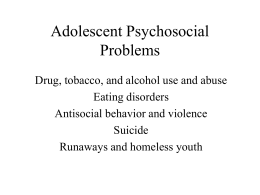 Adolescent Psychosocial Problems