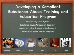 How to Develop a Compliant Drug and Alcohol Education Program