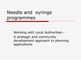 Needle and syringe programmes