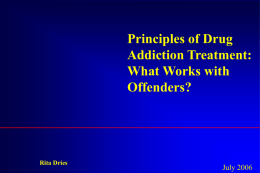 Research Advances in Drug Abuse and Drug Addiction