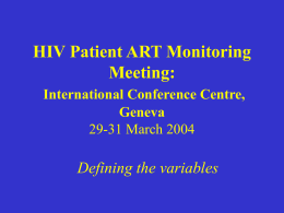 HIV Patient ART Monitoring Meeting