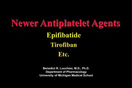 Anticoagulants, Thrombolytics Agents and Antiplatelet Drugs
