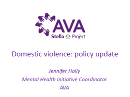Domestic violence: policy update