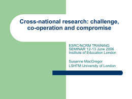 Cross-national research: challenge, co
