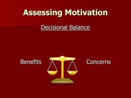 Motivational Interviewing & Behaviour Change