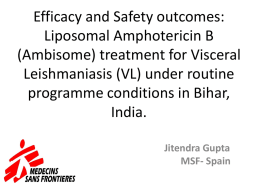 Efficacy and Safety outcomes of Liposomal Amphotericin B